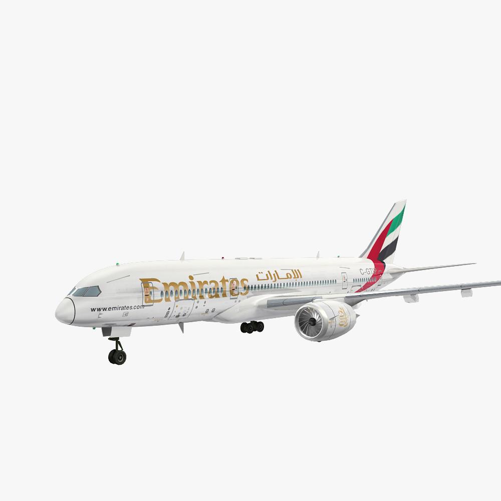3d model fly emirates airliner