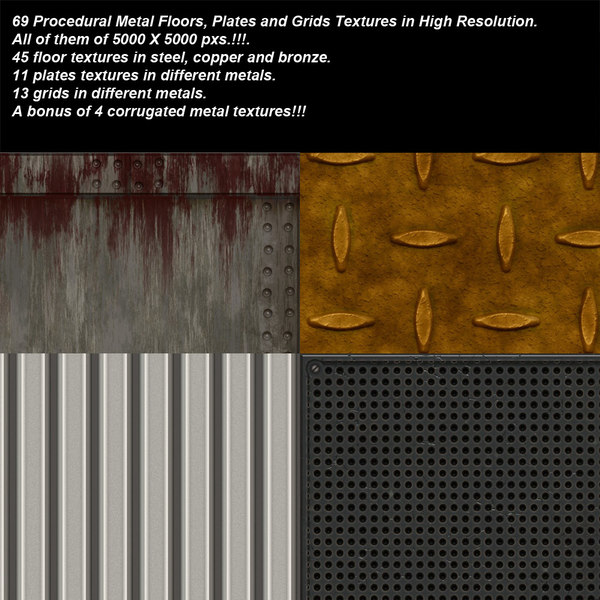 Procedural Metal Floors, Plates and Grids