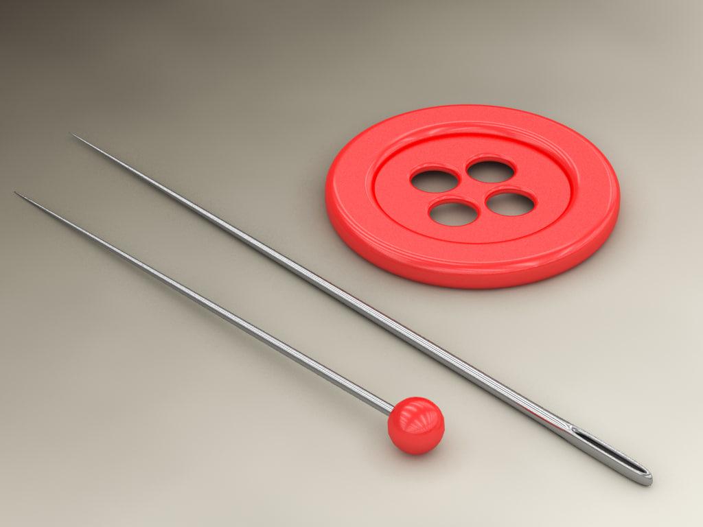 max button needle pin