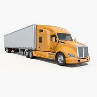 3d model t680 semi truck