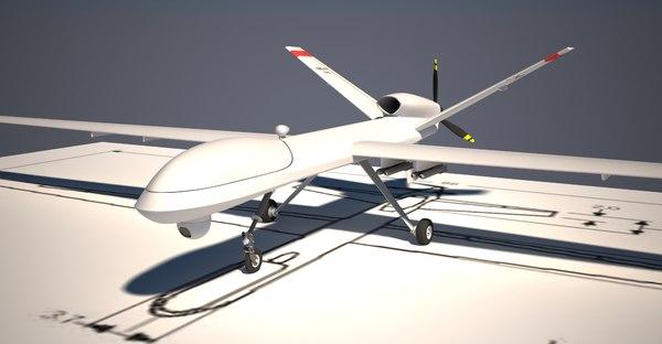 reaper drone 3d model