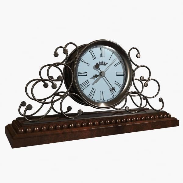 classic clock 3d 3ds