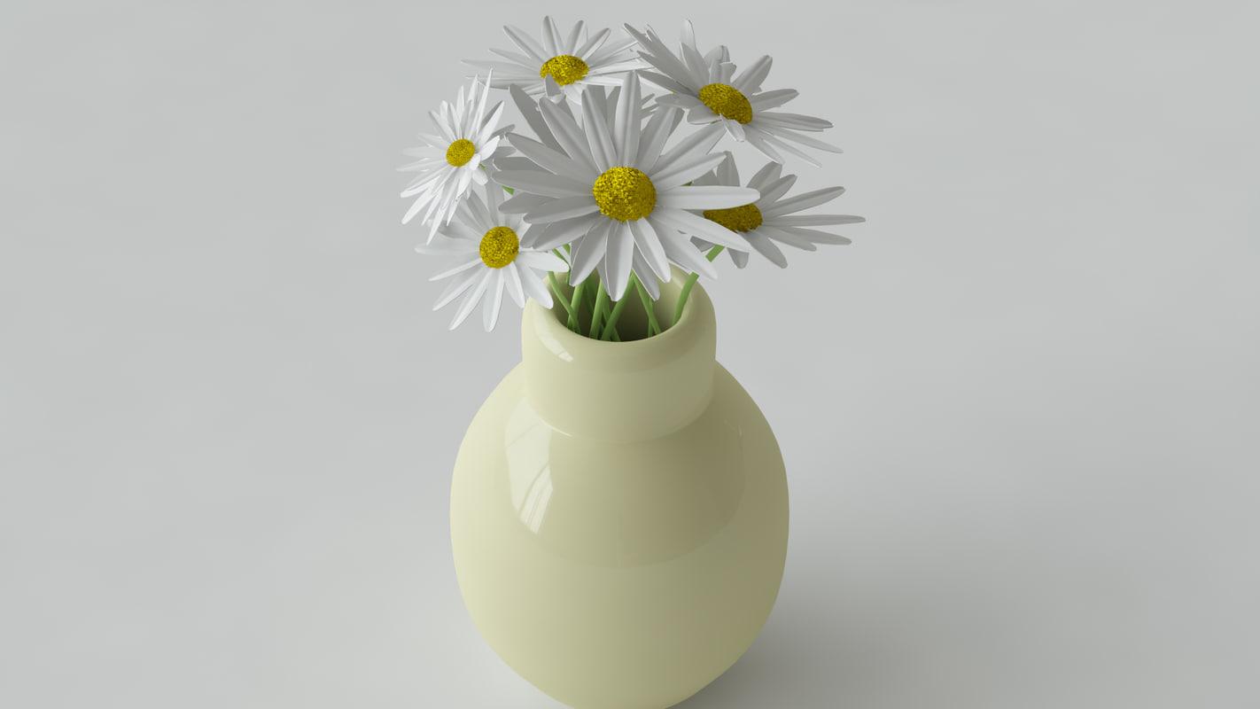 3d daisy flower model