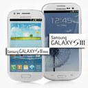 Samsung Galaxy S3 (white and Blue) + Samsung Galaxy S3 mini