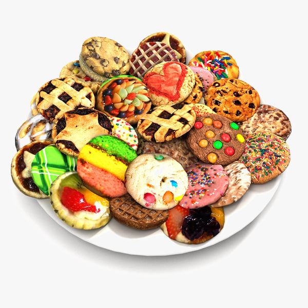 3ds max pies cookies plate 2