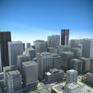 3d model city big cityscape buildings