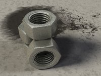 Hex Nut-High Resolution