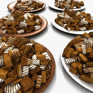 3d bonbon sugar candies model