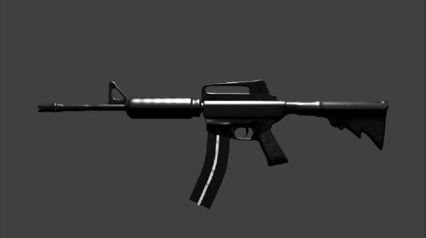 assault rifle 3d fbx