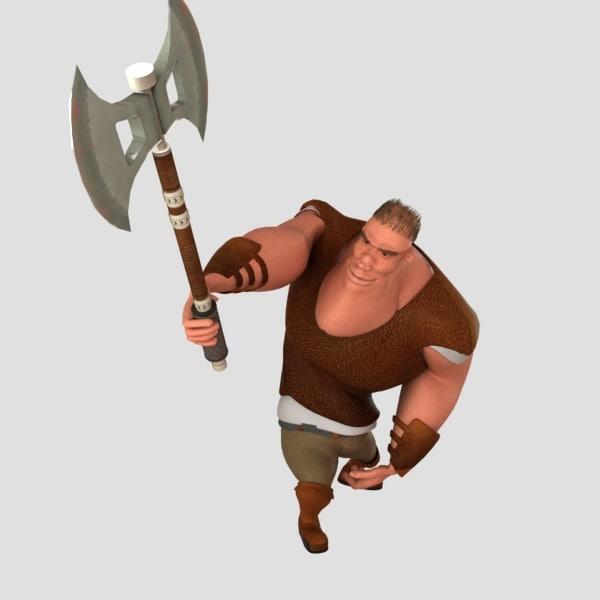 3d medieval man model