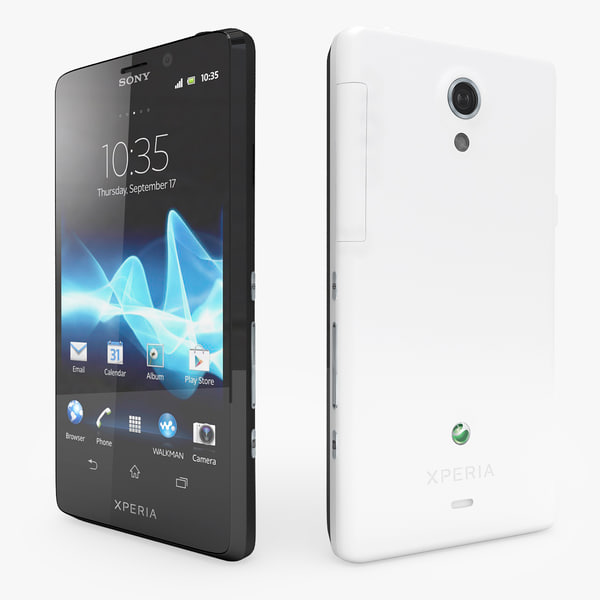 Sony Xperia T Smartphone Black and White