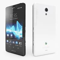 3ds max sony xperia t smartphone