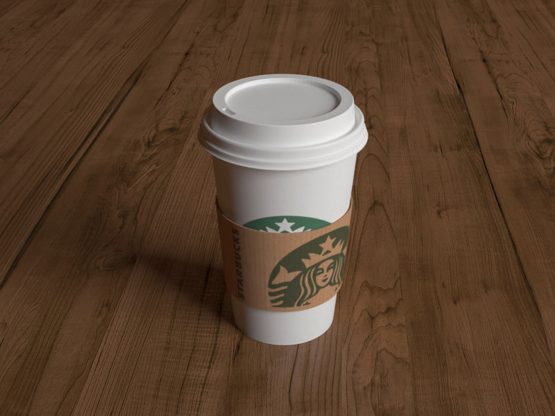 3d model starbucks coffee cup