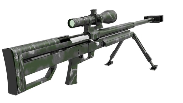 gun hs-50 3d model