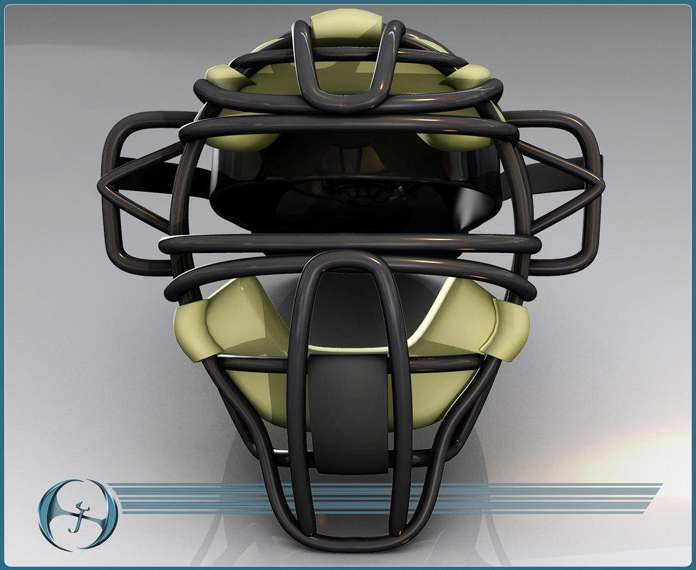 catcher mask baseball 3d 3ds