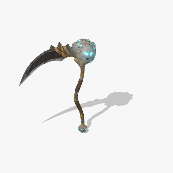 3d scythe exotic weapons model