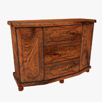 3d model realistic sideboard