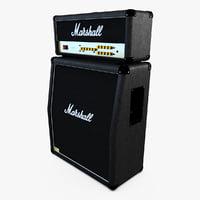 3d model marshall jvm 210h amplifier