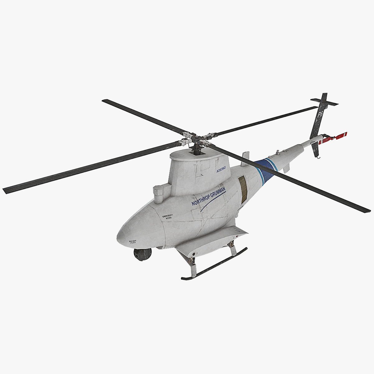 northrop grumman mq-8 scout 3d model