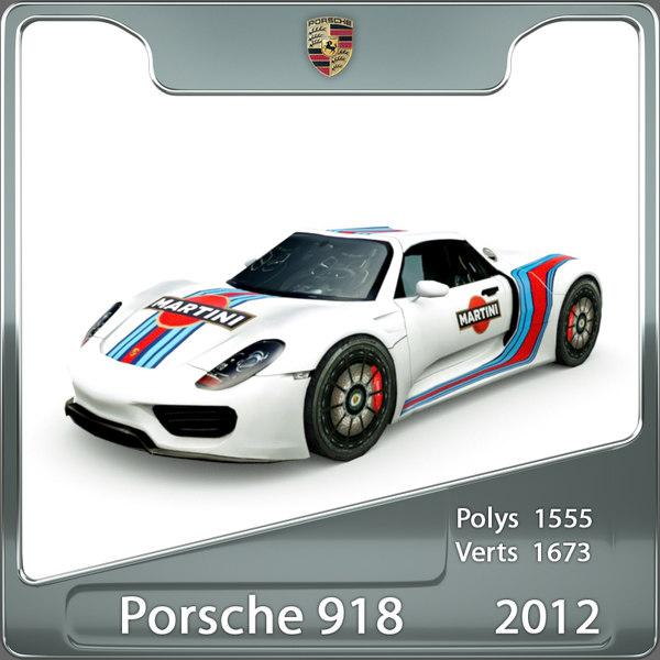 3ds max porsche 918 spyder 2012