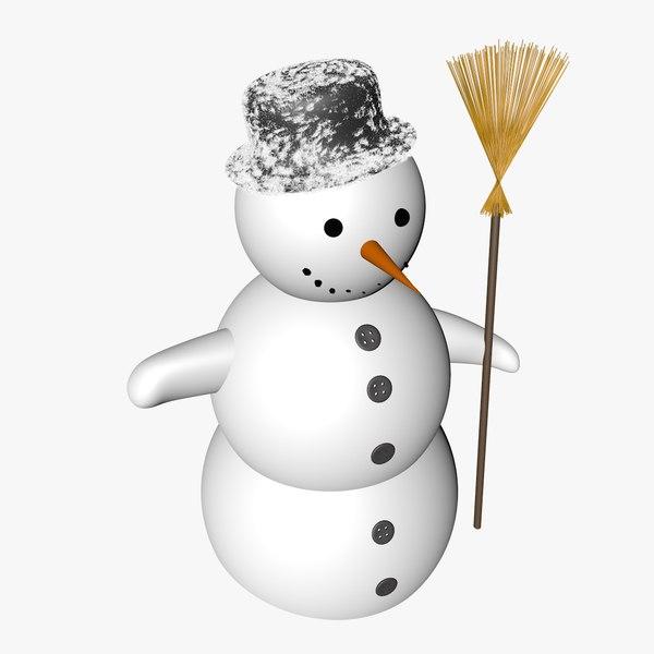 obj christmas snowman snow