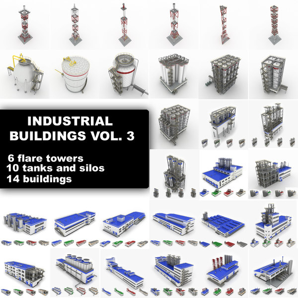 3d industrial buildings vol 3