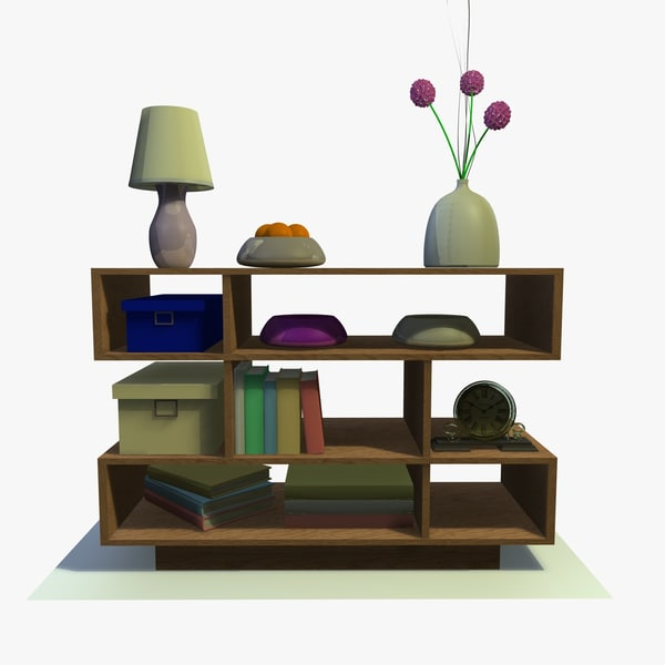 Shelving Unit  With Decor 1
