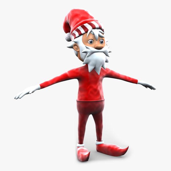3ds max skinny santa