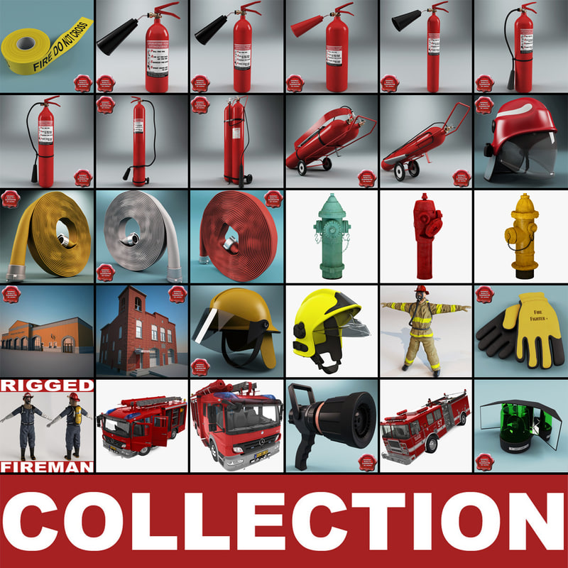 3d fighting hose hydrant