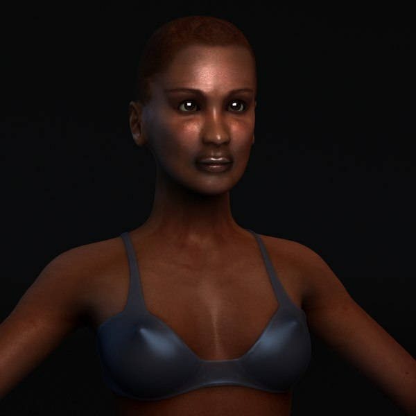 3d african female anatomy