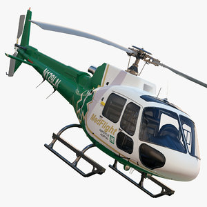 eurocopter as350 medflight 3d max