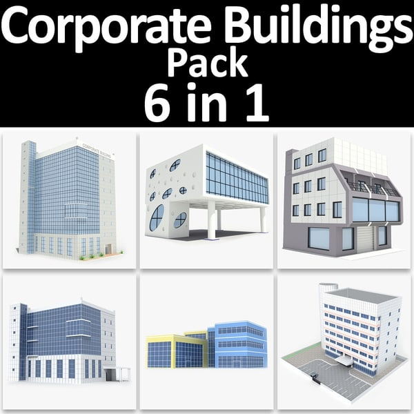 3ds max corporate buildings pack 02