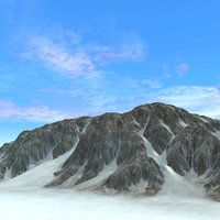 snowy mountains terrain ground rock 3d max