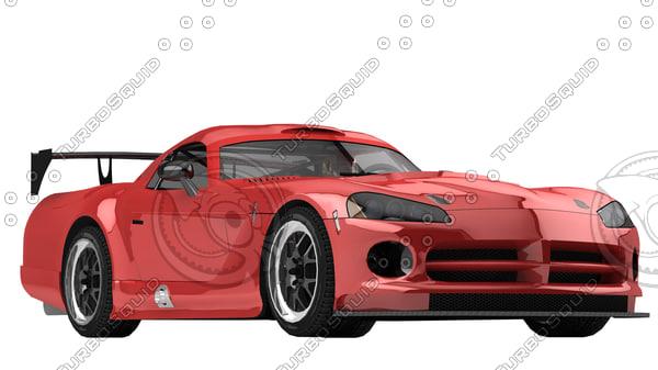 3d viper car sport