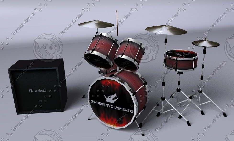 drum drums 3d model