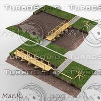3d model pontoon bridge