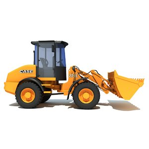 case wheel loader 3d model