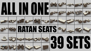 3ds rattan seats