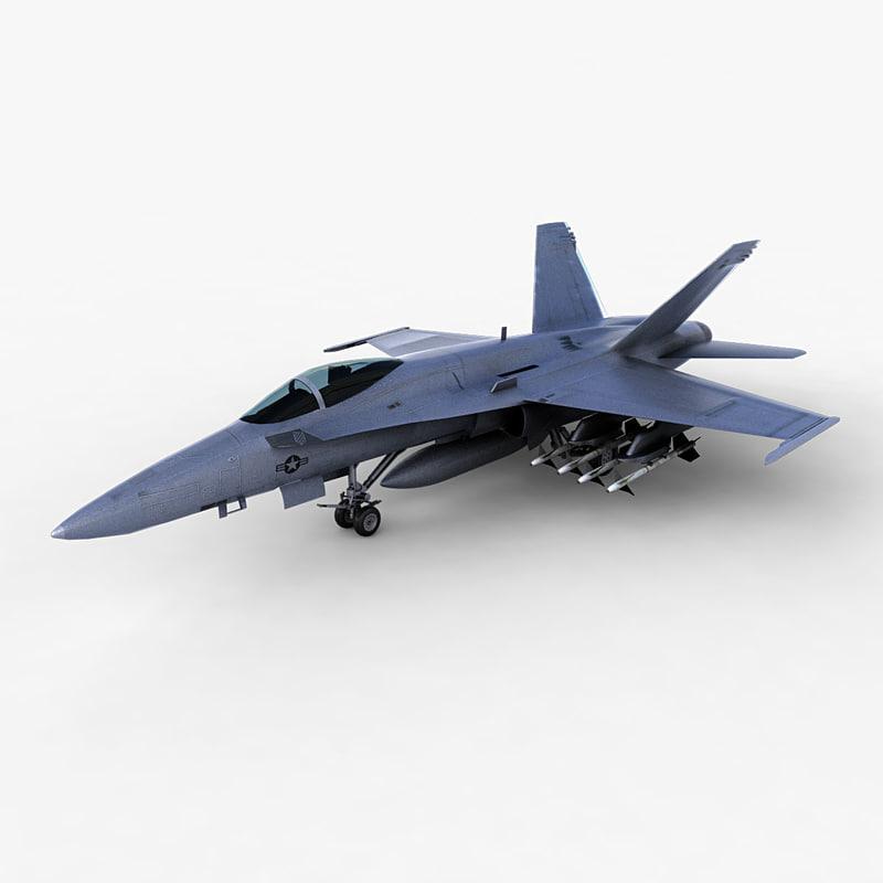 f a-18 fighter jet 3d max