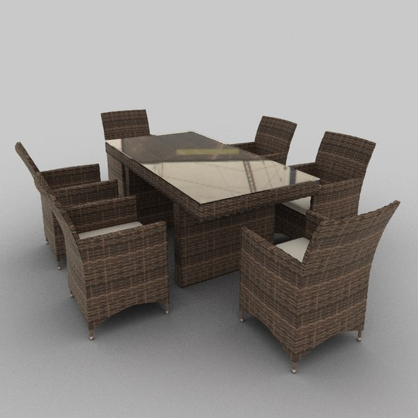 3d rattan seat set 14