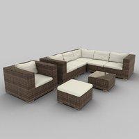 Rattan Seat Set 17