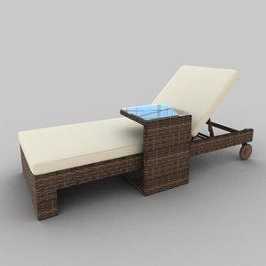 3d model rattan seat set 18