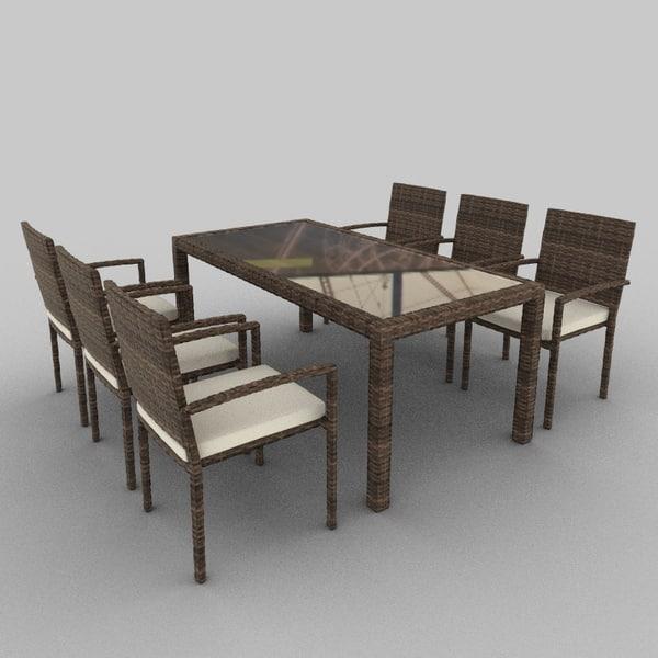 Rattan Seat Set 20