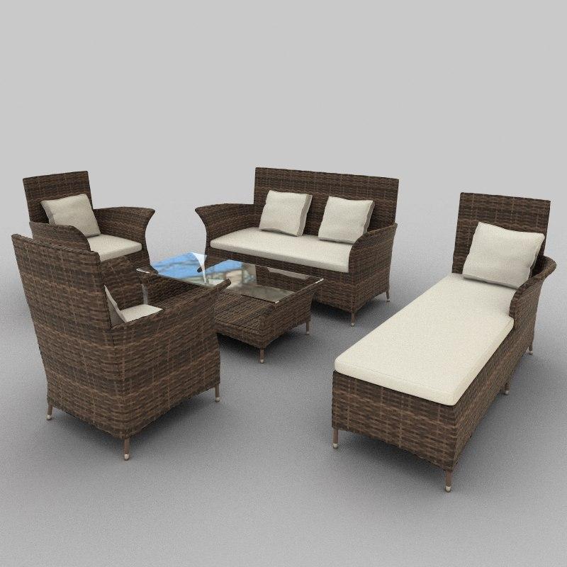 3ds rattan seat set 28
