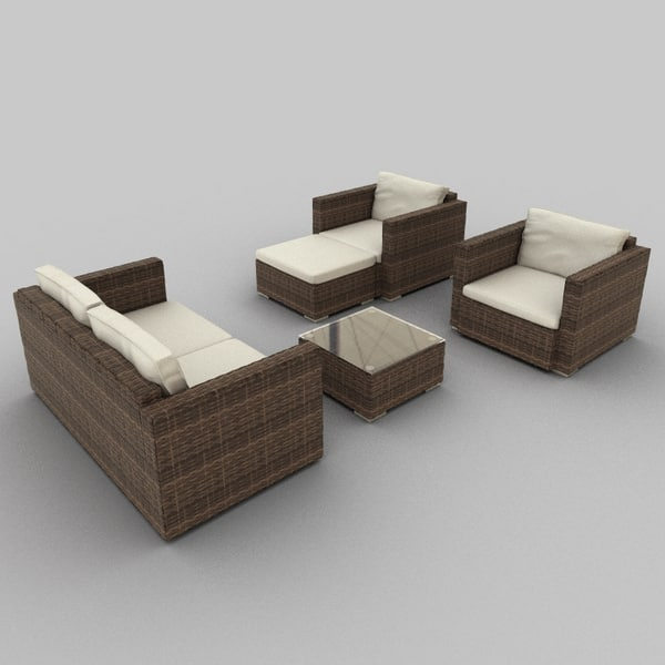 Rattan Seat set 33