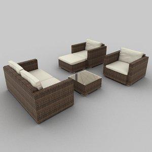 3ds rattan seat set 33