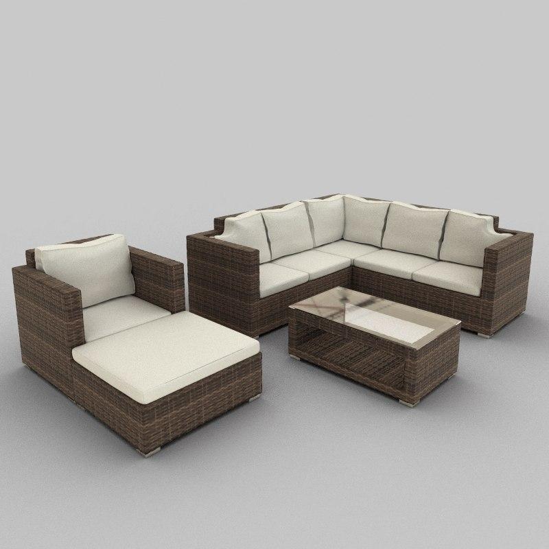 3ds rattan seat set 36