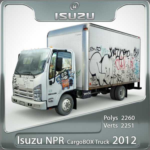 isuzu npr graffiti 3d model