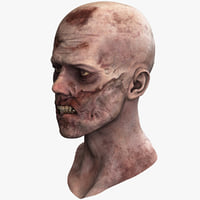 3d model of zombie head