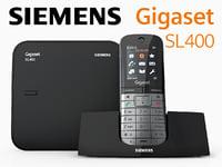 3d model siemens gigaset sl400 phone